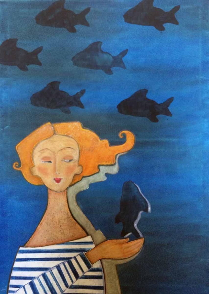 la donna e il pesce