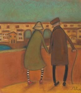 coppia sul ponte vecchio
