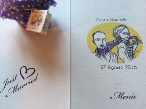 wedding card of Silvia e Gabriele