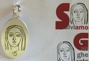 Medaglietta argento salviamo Ganghereto