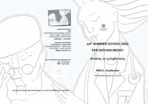 Programma Summer-School della Società Italiana di Gerontologia e Geriatria 2013